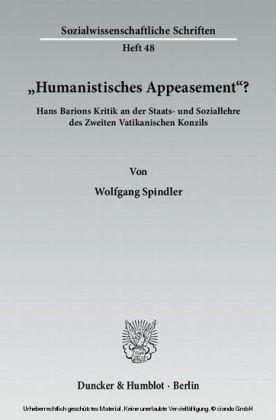 """""""Humanistisches Appeasement""""?"""