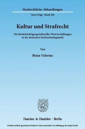 Kultur und Strafrecht.