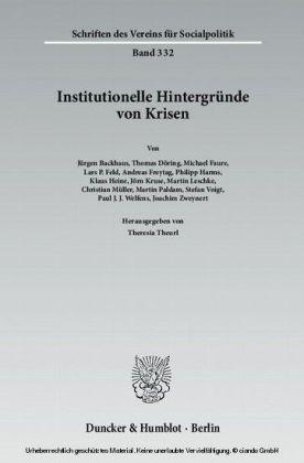Institutionelle Hintergründe von Krisen.