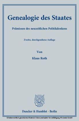 Genealogie des Staates.
