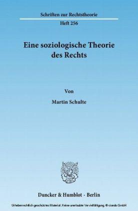 Eine soziologische Theorie des Rechts.
