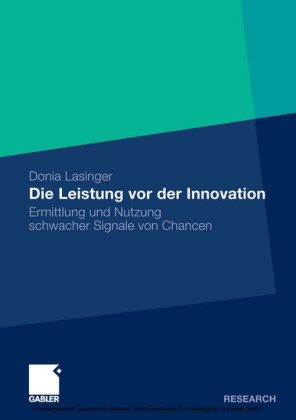 Die Leistung vor der Innovation
