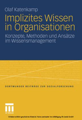 Implizites Wissen in Organisationen