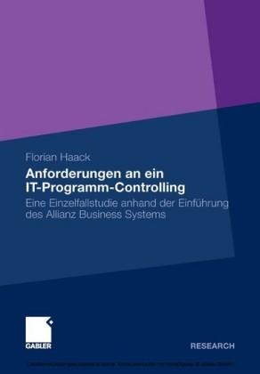 Anforderungen an ein IT-Programm-Controlling