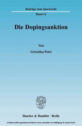 Die Dopingsanktion.