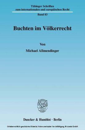 Buchten im Völkerrecht.