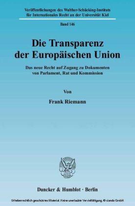 Die Transparenz der Europäischen Union