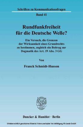 Rundfunkfreiheit für die Deutsche Welle?