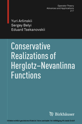 Conservative Realizations of Herglotz-Nevanlinna Functions