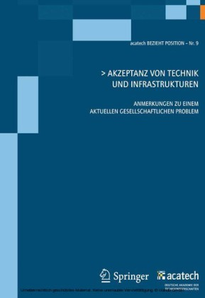 Akzeptanz von Technik und Infrastrukturen