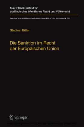 Die Sanktion im Recht der Europäischen Union