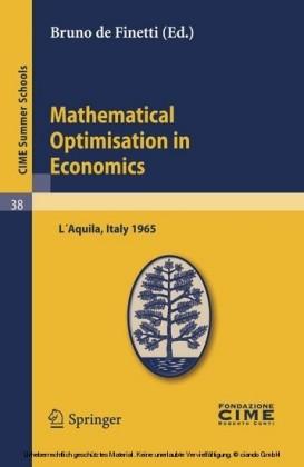 Mathematical Optimisation in Economics