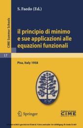 Il principio di minimo e sue applicazioni alle equazioni funzionali