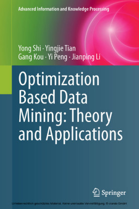 Optimization Based Data Mining: Theory and Applications