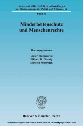 Minderheitenschutz und Menschenrechte.