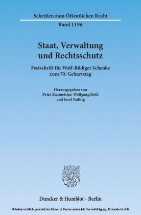 Staat, Verwaltung und Rechtsschutz.