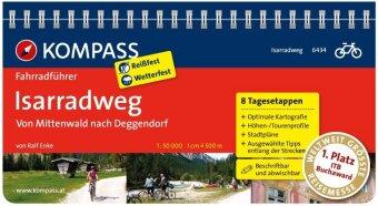 KOMPASS Fahrradführer Isarradweg von Mittenwald nach Deggendorf