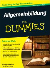 Allgemeinbildung für Dummies Cover