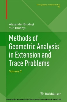 Methods of Geometric Analysis in Extension and Trace Problems. Vol.2