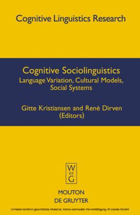 Cognitive Sociolinguistics