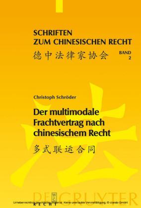 Der multimodale Frachtvertrag nach chinesischem Recht