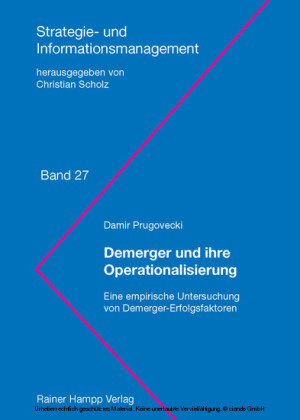 Demerger und ihre Operationalisierung