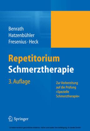 Repetitorium Schmerztherapie