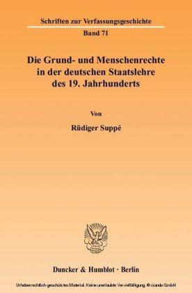Die Grund- und Menschenrechte in der deutschen Staatslehre des 19. Jahrhunderts.