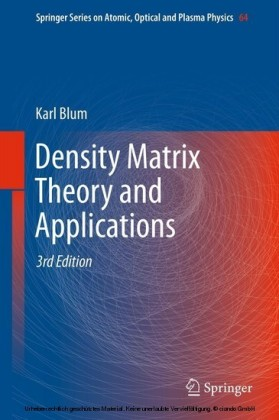 Density Matrix Theory and Applications
