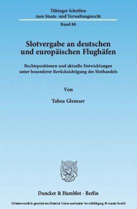 Slotvergabe an deutschen und europäischen Flughäfen.