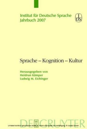 Sprache - Kognition - Kultur