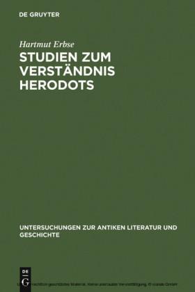 Studien zum Verständnis Herodots