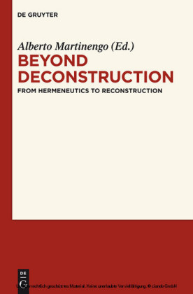 Beyond Deconstruction