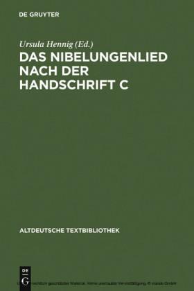Das Nibelungenlied nach der Handschrift C