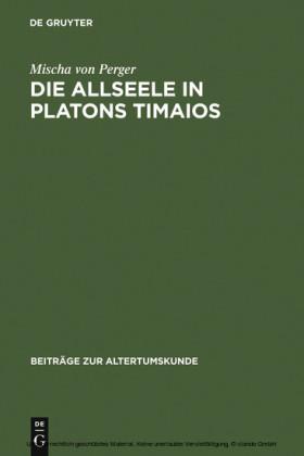 Die Allseele in Platons Timaios
