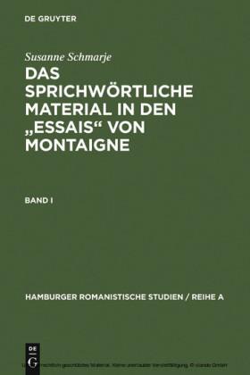 Das sprichwörtliche Material in den 'Essais' von Montaigne
