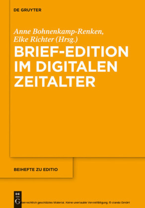 Brief-Edition im digitalen Zeitalter