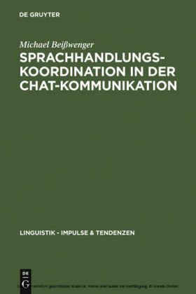 Sprachhandlungskoordination in der Chat-Kommunikation