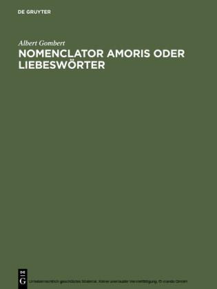 Nomenclator amoris oder Liebeswörter