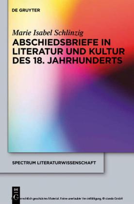 Abschiedsbriefe in Literatur und Kultur des 18. Jahrhunderts