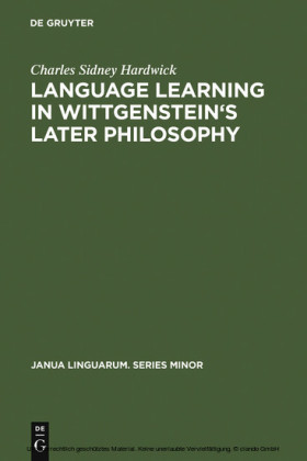 Language learning in Wittgenstein's later philosophy
