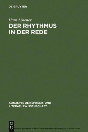 Der Rhythmus in der Rede