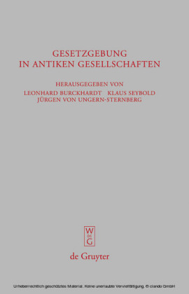 Gesetzgebung in antiken Gesellschaften