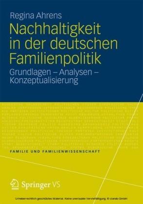 Nachhaltigkeit in der deutschen Familienpolitik