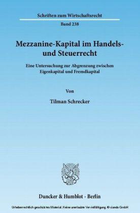 Mezzanine-Kapital im Handels- und Steuerrecht