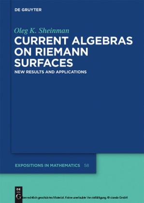 Current Algebras on Riemann Surfaces