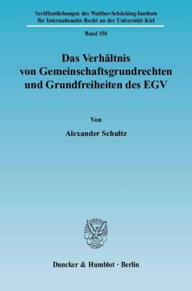 Das Verhältnis von Gemeinschaftsgrundrechten und Grundfreiheiten des EGV.