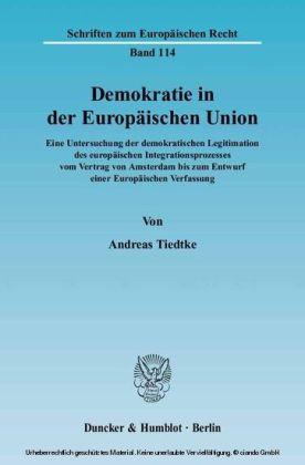 Demokratie in der Europäischen Union.