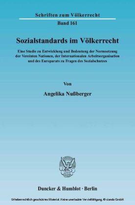 Sozialstandards im Völkerrecht.