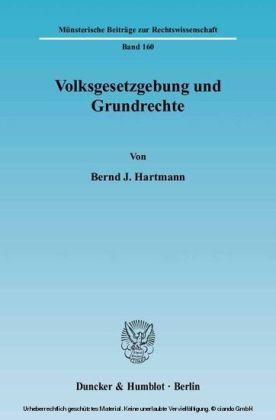 Volksgesetzgebung und Grundrechte.